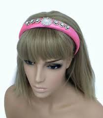 jewelled headband jewelled headband hair band in padded pink satin faux pearl