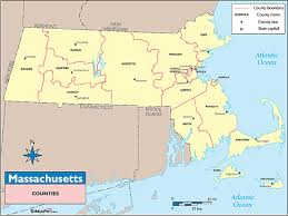 map of massachusetts counties massachusetts counties and county seats map by maps com from maps