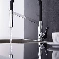 designer kitchen taps uk milano modern monobloc kitchen sink mixer tap chrome u0026 black