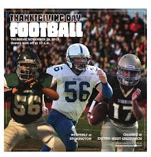 thanksgiving football lineup thanksgiving day football by the westerly sun issuu