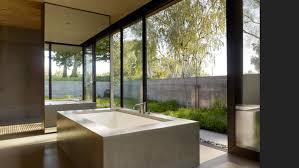 Outdoor Bathrooms Ideas by Glass Shelves On The Wall Glass Window Above Bathtub Outdoor