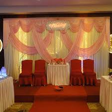 wedding backdrop accessories wedding stage white and pink backdrops decoration wedding