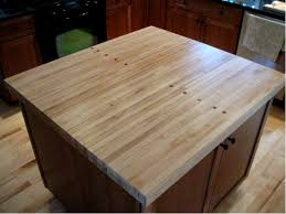 Kitchen Island Made From Reclaimed Wood We Reclaimed The Lanes From An Old Bowling Alley A Few Sections