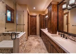 Rustic Tile Bathroom - nero marquina marble tile floor bathroom rustic with wood looking tile