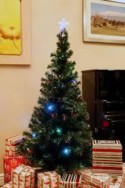 6 ft brand new pre lit multi color led u0026 fiber optic christmas