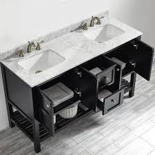 60 Double Sink Bathroom Vanity Reviews Sweet Ideas 60 Bathroom Vanity Sagehill American Craftsman 60