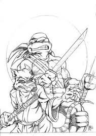 teenage mutant ninja turtles printable coloring pages ninja