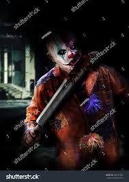 halloween clown background psychopath clown killer on halloween horror stock photo 483351853