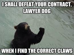 Contract Law Meme - vengeful bear memes quickmeme