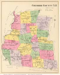 New Hampshire State Map by 1892 Cheshire County Map