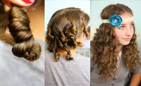 How To Do A Cute Hairstyle For Short Hair by Cocoon Curls No Heat Curl Hairstyles Cute Girls Hairstyles