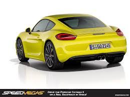 porsche cayman yellow drive a porsche cayman in las vegas porsche driving experience