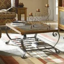 Slate Top Coffee Table Wrought Iron Cocktail Tables Foter