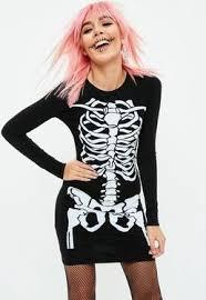 Skeleton Dress Halloween Dreses Halloween U0026 Clothes Missguided