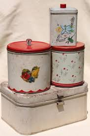 vintage metal kitchen canisters vintage metal bread box tin kitchen canisters retro fixer