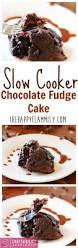 this slow cooker chocolate fudge cake is super easy to make with