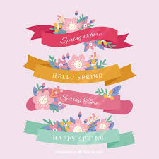 beautiful spring collection of beautiful spring ribbons vector free download