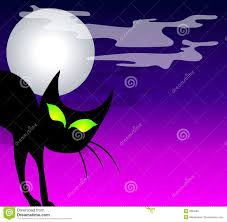 halloween background black cat black cat moon background stock image image 5894461