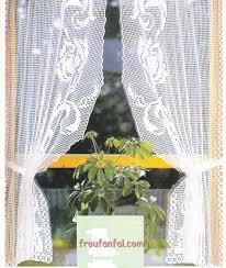 modele rideau de cuisine rideau bonne femme au crochet guirlande avec tuto le de