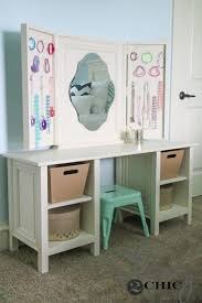 Desk And Vanity Combo Diy Kids Vanity Shanty 2 Chic