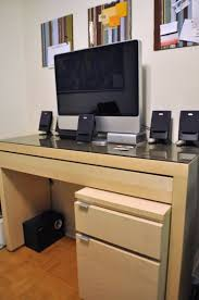 Ikea Furniture Computer Desk Functional Diy Computer Desk With A Keyboard Tray From An