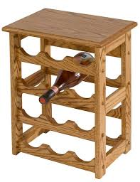 amish hardwood medium wine rack