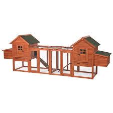 Chicken Coop Kit Trixie 123 5 In L X 27 5 In W X 42 5 In H Chicken Coop Duplex