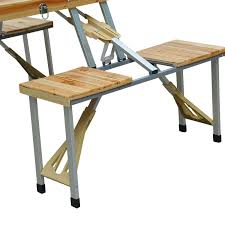 Wood Camping Table Foldable Wooden Picnic Table W Seats Mpfmpf Com Almirah Beds