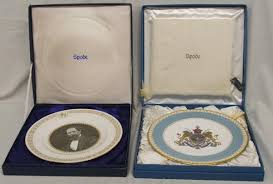 two spode collectors plates