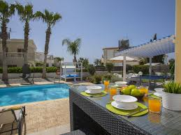 blue palms 3 bedroom villa in a quiet location and near ayia