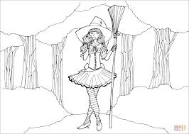 witch coloring page free printable coloring pages
