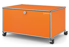 Esszimmerst Le Orange Usm Haller Tv Lowboard Auf Rollen Mit Klapptür Und Rückwand