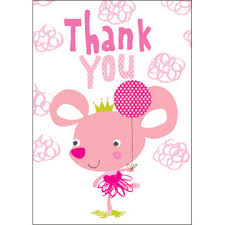 kids thank you cards 8 kids thank you cards ballerina mouse