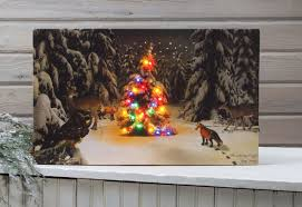 radiance flickering light canvas a gathering of light animals in forest lighted picture lights
