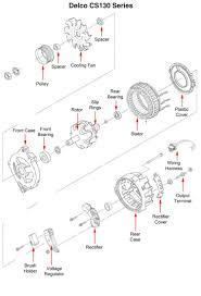 wiring diagram delco remy cs130 alternator wiring diagram wiring