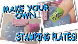 diy how to make your own stamping plates for nail art tutorial