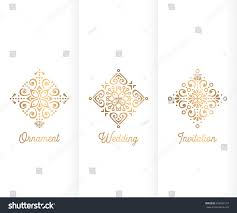 Chinese Birthday Invitation Card Wedding Invitation Vintage Decorative Elements Ornamental Stock