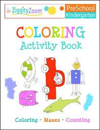 coloring activity workbook for kindergarten preschool kids