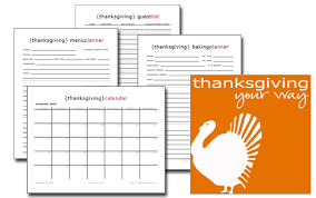 free thanksgiving ebook recipes and tips a printable planner
