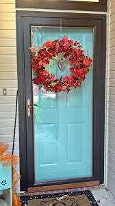 Teal Front Door by Fix Lovely How To Paint Your Front Door Storm Door And Hardware