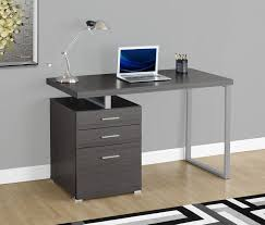 rimini computer desk u2013 grey the brick