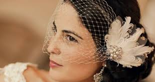 headpieces online vintage inspired headpiece with birdcage veil capelio