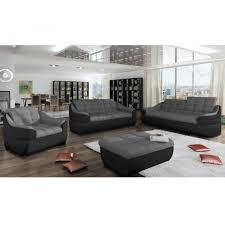 canapé 3 2 places tissu canapé 3 2 1 places en tissu et simili farez bicolore gris et noir