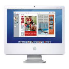 apple imac desktop computer with intel core 2 33ghz 24 in