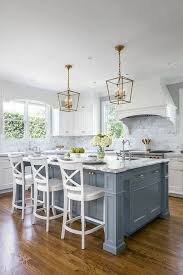 white kitchen cabinets with blue island 30 stunning blue kitchen cabinet designs photos cerwood
