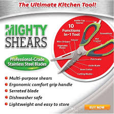 professional grade kitchen knives mighty shears scissors the ultimate kitchen tool mighty shears