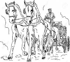 horse and carriage drawing how to draw a horse pulling carriage