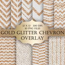 gold glitter chevron digital clip art overlay chevron