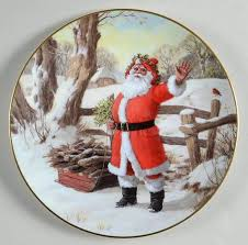 royal doulton santa plates at replacements ltd
