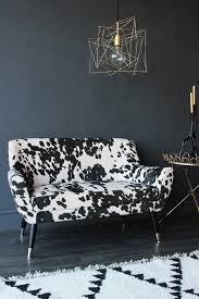 Faux Cowhide Faux Cowhide Vintage Style 2 Seater Sofa